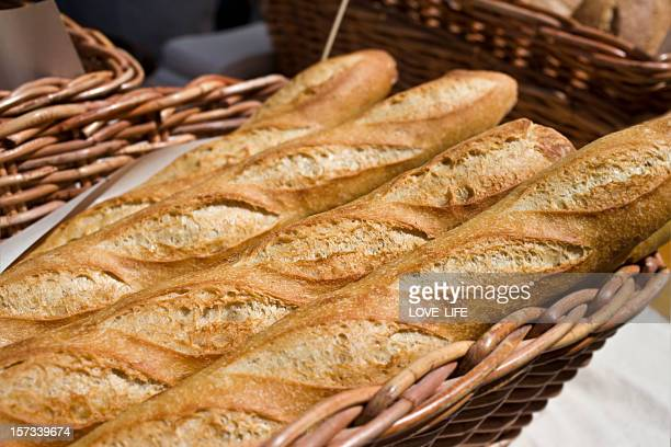 fresh bread - baguette stock pictures, royalty-free photos & images
