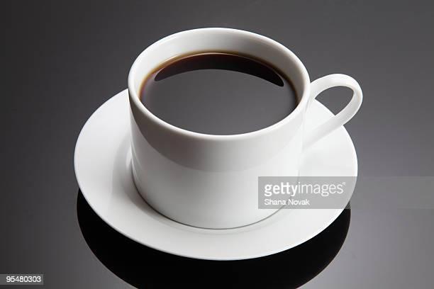 fresh brewed coffee  - コーヒーカップ ストックフォトと画像