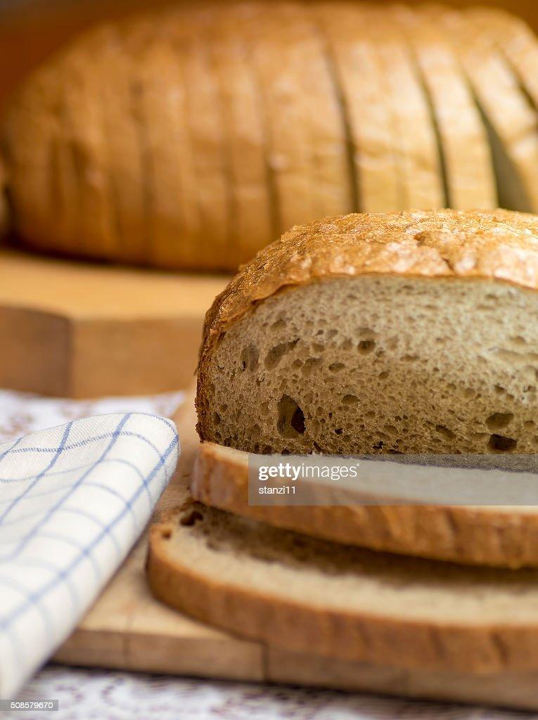 Fresh brown bread : Stock Photo
