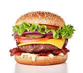 fresh burger isolated