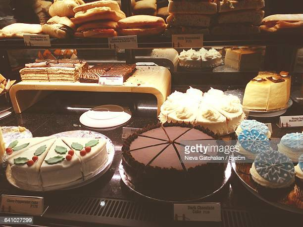 Fresh Cakes And Pastries At Bakery