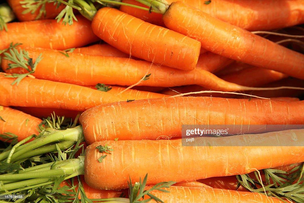 Fresh carrots full frame : Stock Photo