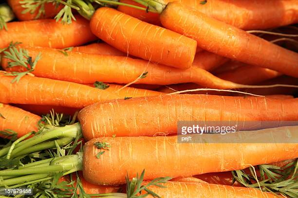 Fresh carrots full frame