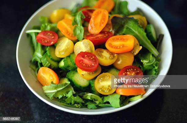 Fresh cherry tomatoes salad