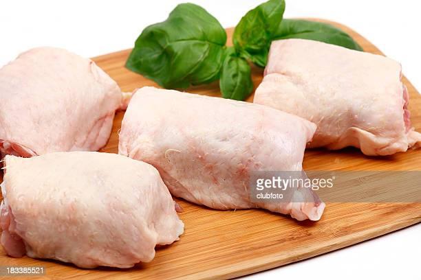 Coxas de frango frescos