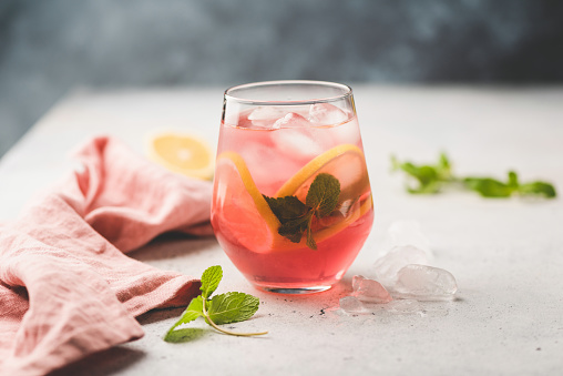Fresh citrus cocktail or ice tea - gettyimageskorea