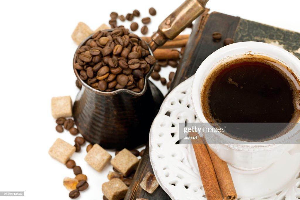 fresh coffee : Stock Photo