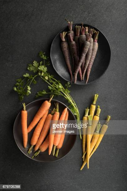 Fresh Colourful Baby Carrots.
