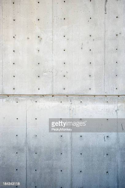 Fresh Concrete Wall Vertical Background with Plugs and Seams