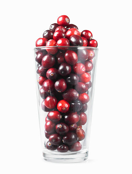 Fresh Cranberries in Drinking Glass