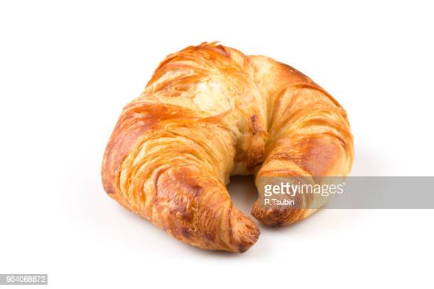 fresh croissant isolated on the white background - bun bread stock pictures, royalty-free photos & images