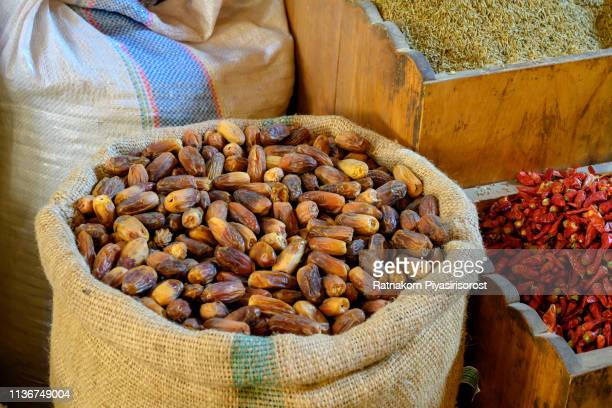 fresh dates in market of aswan, egypt - date palm tree stock pictures, royalty-free photos & images
