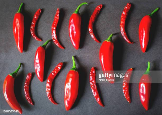 Fresh & Dried Whole Red Chilies