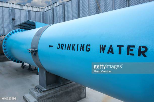 Fresh drinking water leaves the Desalination plant Carlsbad, California, United States.