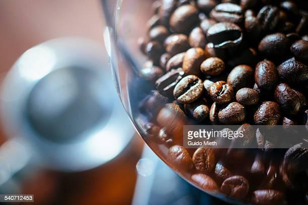 Fresh espresso beans.