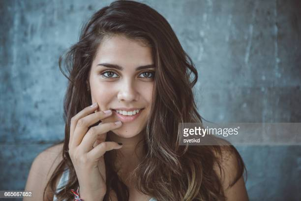 fresh faced and all natural - only teenage girls stock pictures, royalty-free photos & images