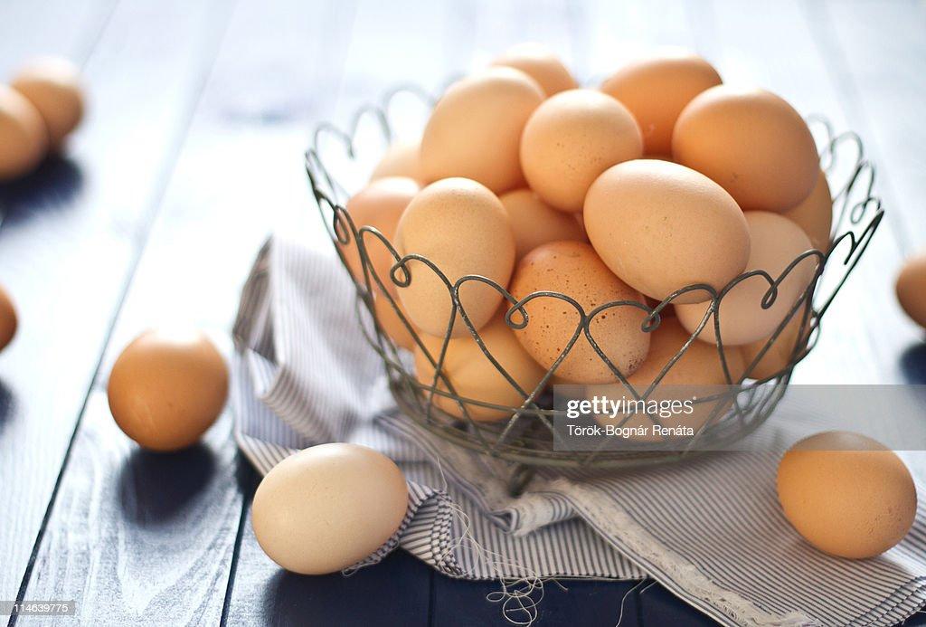 Fresh farm eggs : Stock Photo