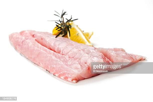 fresh fish (grouper) fillet - grouper stock pictures, royalty-free photos & images
