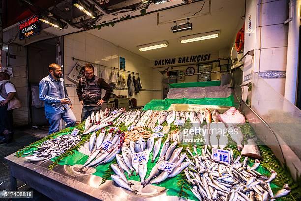 Fresh Fish for sale on Istanbul Street, Turkey