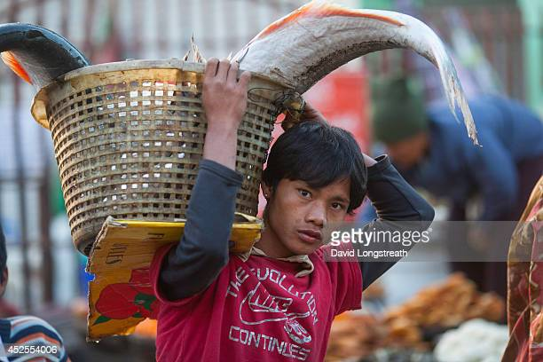 ASIA SITTWE RAKHINE MYANMAR Fresh fish is offered for sale at an early morning market According to Non Governmental Organizations Myanmar is one of...