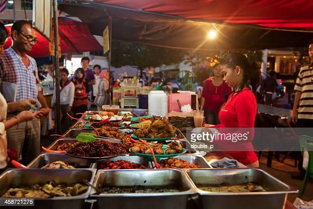 fresh food at kota kinabalu market - kota kinabalu stock pictures, royalty-free photos & images