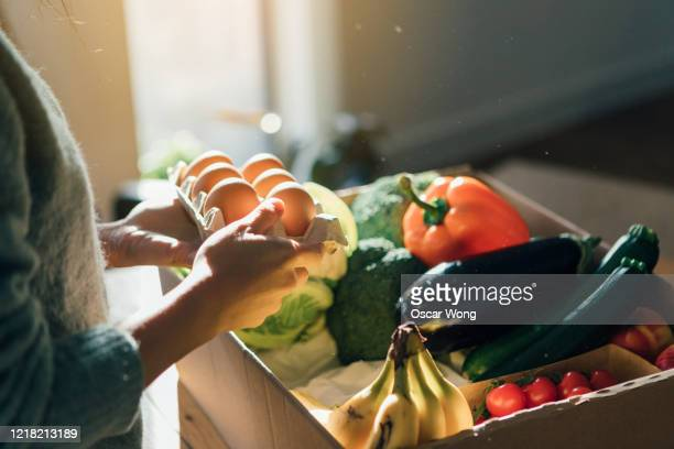 fresh food home delivery service - merchandise stock pictures, royalty-free photos & images