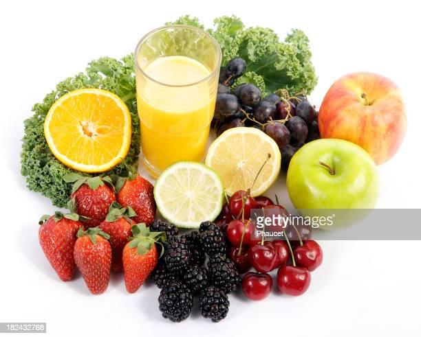 Frisches Obst und Saft-Orange