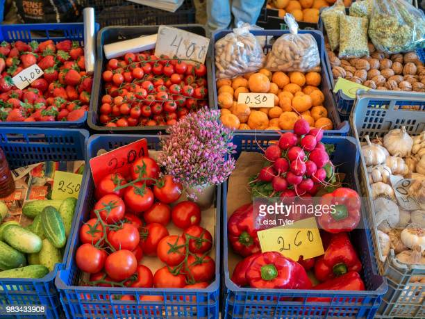 Fresh fruit and vegetables at the Lagos Farmer's Market which operates each Saturday at a warehouse at the bus station