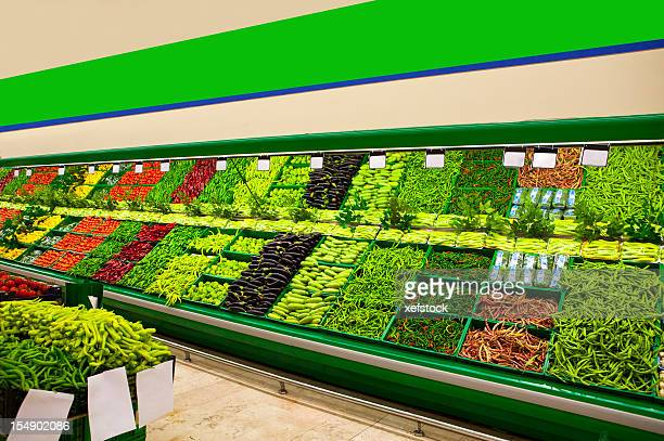 fresh fruits and vegetables - produce aisle stock photos and pictures
