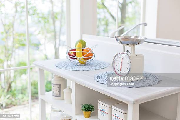 Fresh Fruits With Weighing Scale
