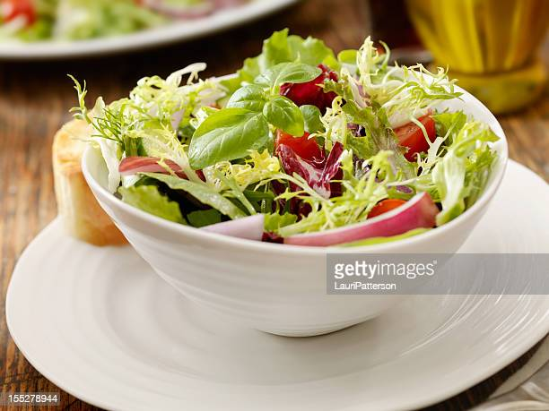 fresh garden salad - side salad stock pictures, royalty-free photos & images