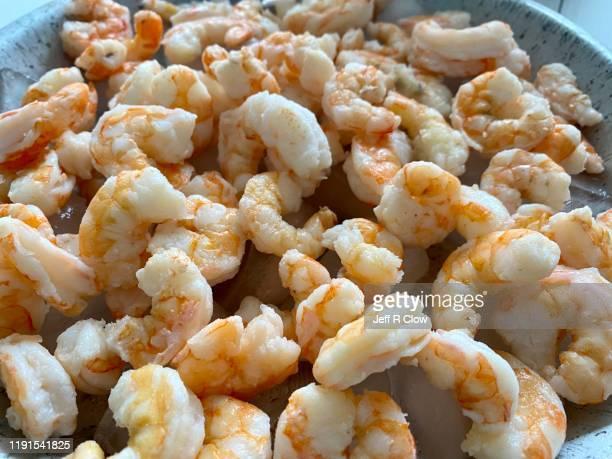 fresh gulf coast boiled shrimp - 車海老料理 ストックフォトと画像