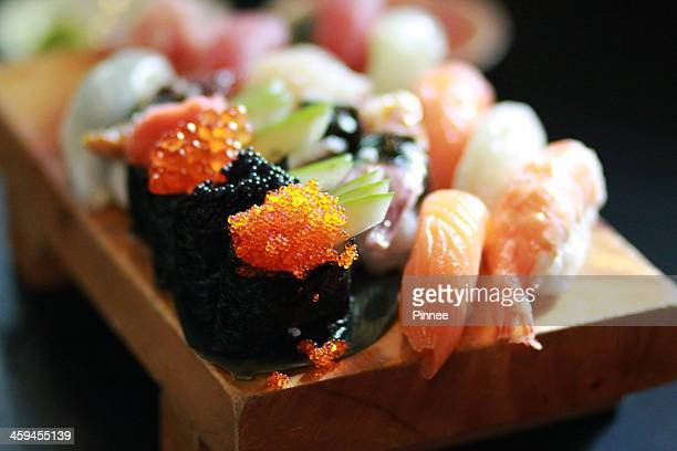 fresh gunkan sushi set , saigon, vietnam - japanese food stock pictures, royalty-free photos & images