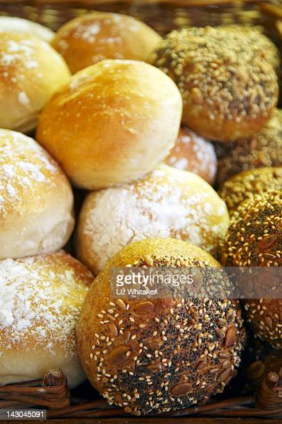 Fresh, homemade bread rolls, close-up