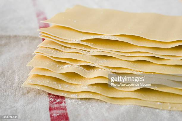 Fresh homemade lasagna sheets