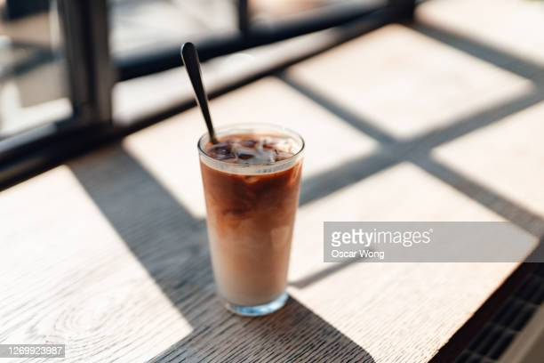 a fresh ice coffee - single object stock pictures, royalty-free photos & images