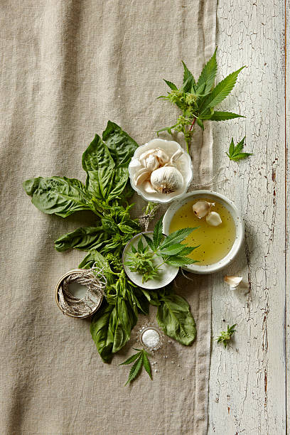 Fresh Ingredients With Marijuana Wall Art