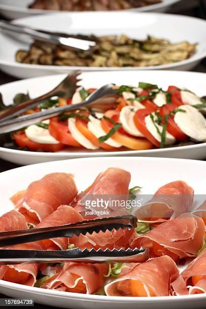 Un buffet italien Jambon de Parme