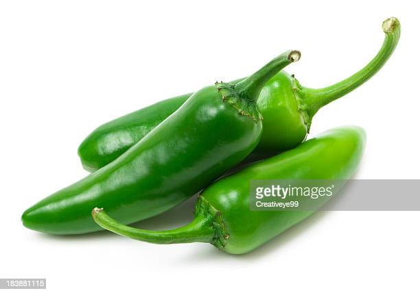 fresh jalapeno peppers - pepper stock pictures, royalty-free photos & images