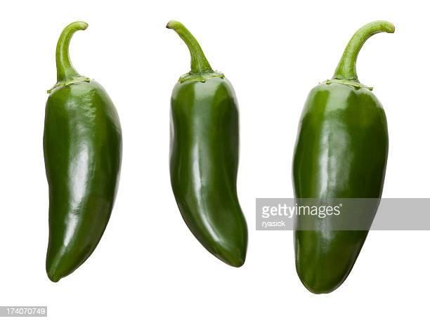 frische jalapeños - jalapeno stock-fotos und bilder