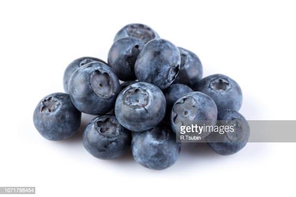 fresh juicy blueberries - ブルーベリー ストックフォトと画像