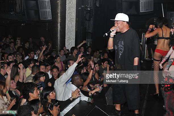 Fresh Kid Ice of the rap group 2 Live Crew performs at the BPM Culture Magazine 12Year Anniversary party held at the Avalon nightclub on July 16 2008...