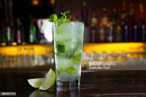 fresh lemon fruits - mojito stock photos and pictures
