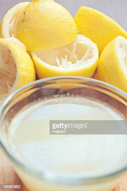 Fresh Lemons with Lemon Juice