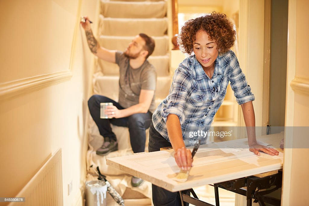 fresh lick of paint : Stock Photo