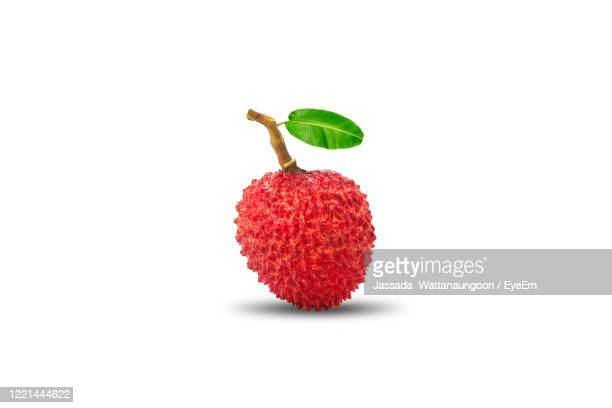 fresh lychee isolated on white background - tropical fruit stock pictures, royalty-free photos & images
