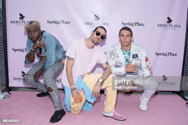Fresh Made It Ringo Merea and Dontae Mifsud attend the Mery Playa Swimwear Launch on June 20 2018 in New York City