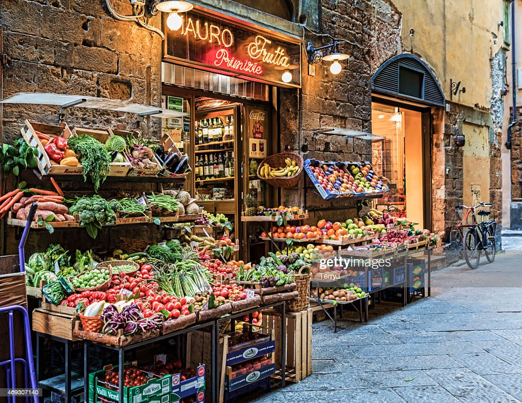 Fresh Market in Florence Italy : Stock Photo