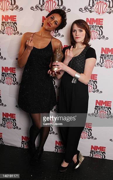 Fresh Meat with their award at The NME Awards 2012 at The o2 Academy Brixton on February 29 2012 in London England