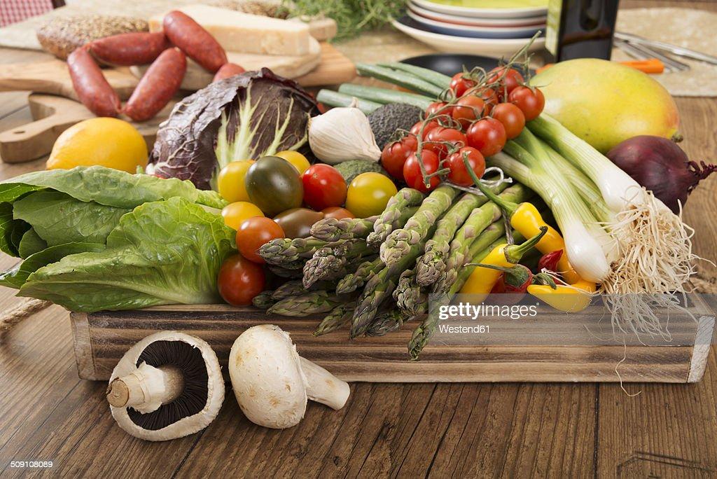 Fresh Mediterranean vegetables : ストックフォト